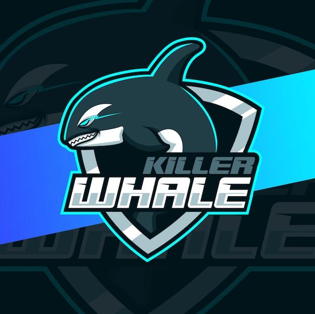 Killer whale mascot esport logo design