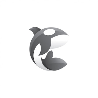 Killer whale orca logo illustration