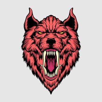 Killer wolf illustration