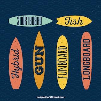 Kind of surfboards