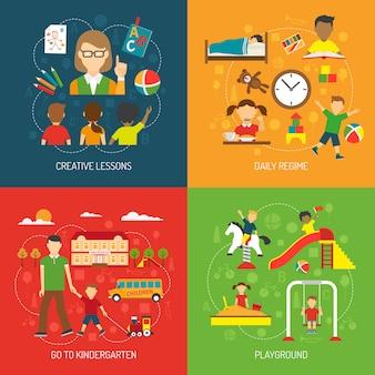 Kindergarten 2x2 concept