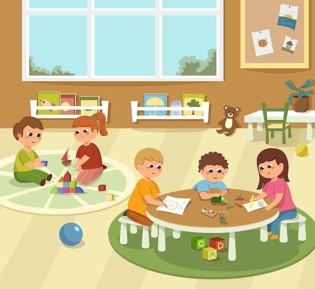 게임 및 학습을 위한 유치원 어린이 방 어린이 놀이 학습 및 장난감 책 개발