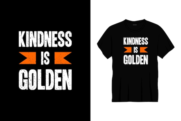 Доброта - это золотой типографский дизайн футболки