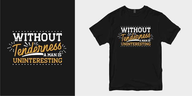 優しさのtシャツのデザインはスローガンのタイポグラフィを引用しています。やる気を起こさせるインスピレーションの言葉