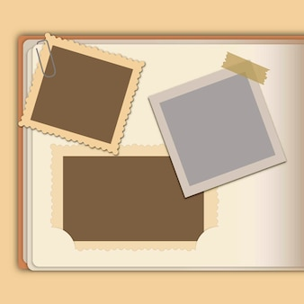 Kinds of retro photo frames
