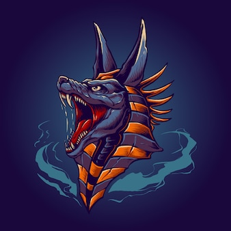 The king anubis illustration vector