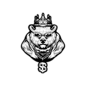 King bears vector