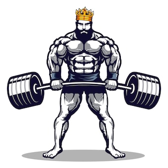 King bodybuilding and gym logo