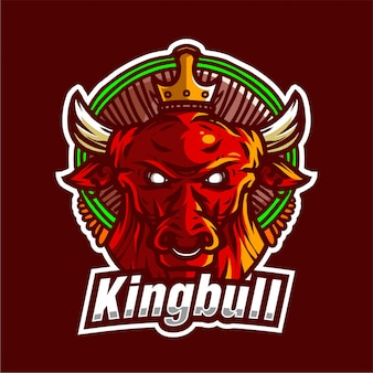 King bull vector illustration template