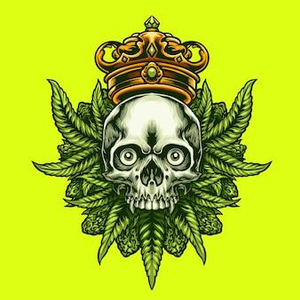Король каннабис череп