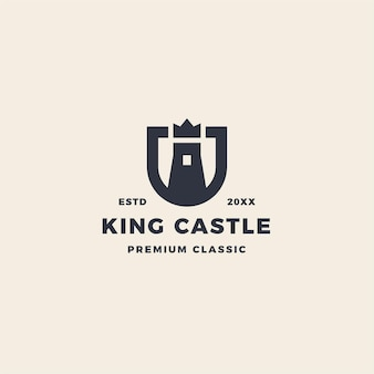 King castle logo with crow and shield emblem