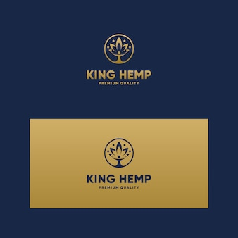 Вдохновляющий логотип king cbd, марихуана, конопля