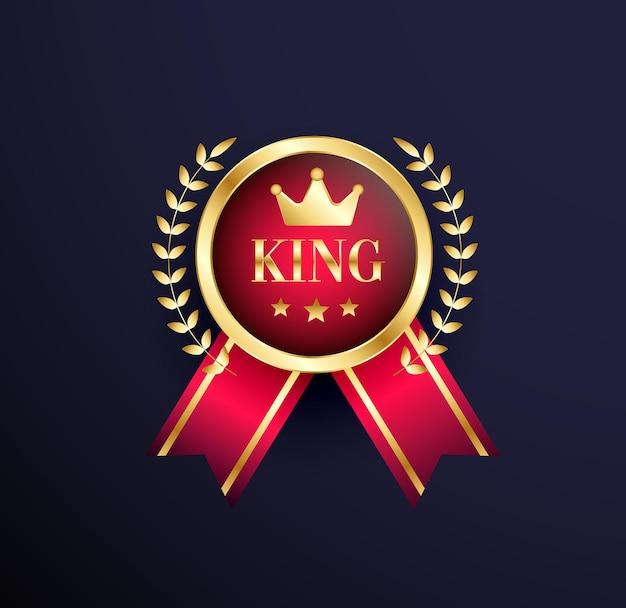王のお祝いの金メダル