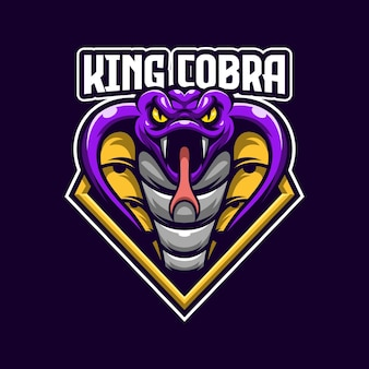 Шаблон логотипа king cobra esports