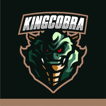 King cobra mascot logo gaming vector template