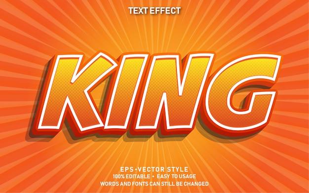 Редактируемый текстовый эффект king comic