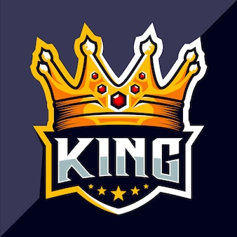 King crown esport logo design