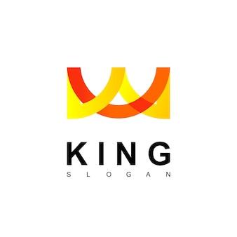 King crown logo design vector