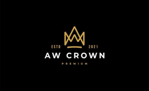 King crown logo icon design vector illustration