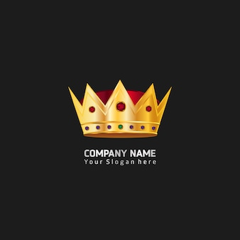King crown logo Premium Vector