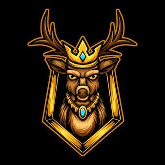 King deer mascot logo