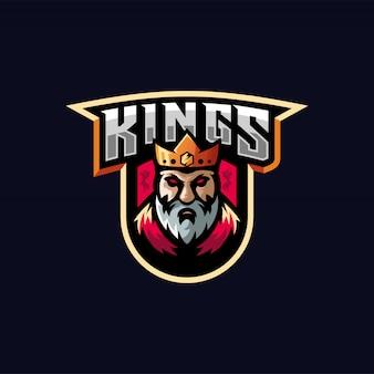 King e-sport logo design