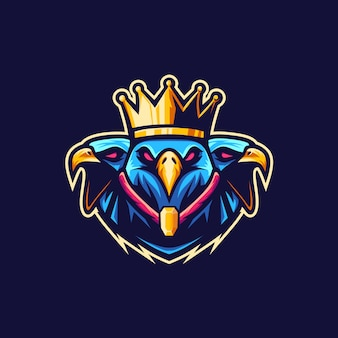 King eagle vetor logo illustration