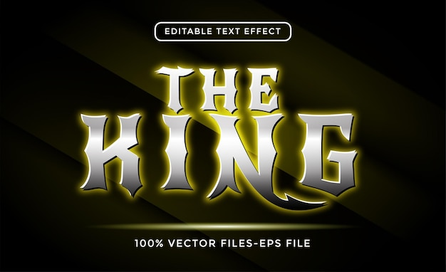 The king editable text effect premium vectors