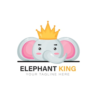 King elephant logo design