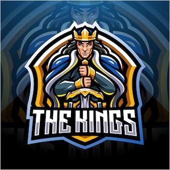 The king esport mascot logo design