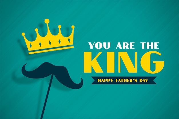 King fathers day concept banner with crown