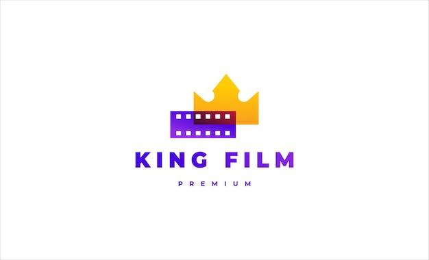 King film logo design vector icon illustration