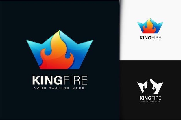 그라디언트가 있는 킹 파이어 로고 디자인