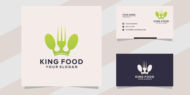 King food logo template