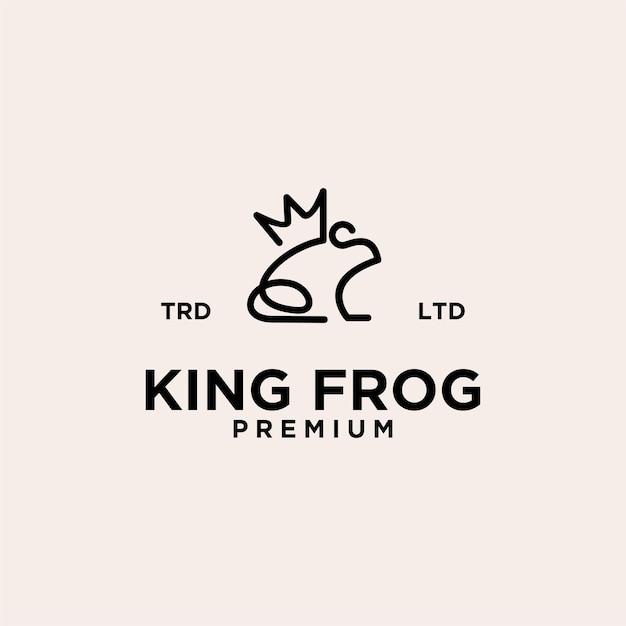 King frog line vintage premium logo