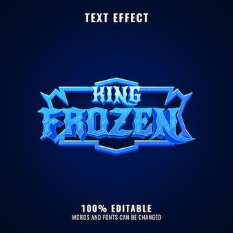 킹 냉동 판타지 얼음 롤 플레잉 게임 로고 제목 텍스트 효과