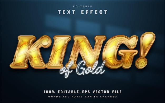 King gold text effect editable
