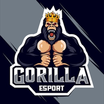 King gorilla esport logo design