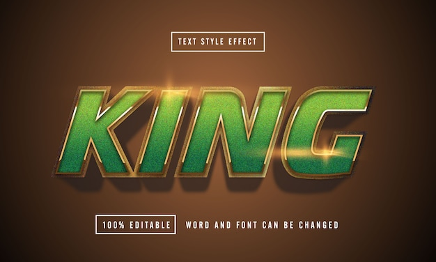 King green text effect editable