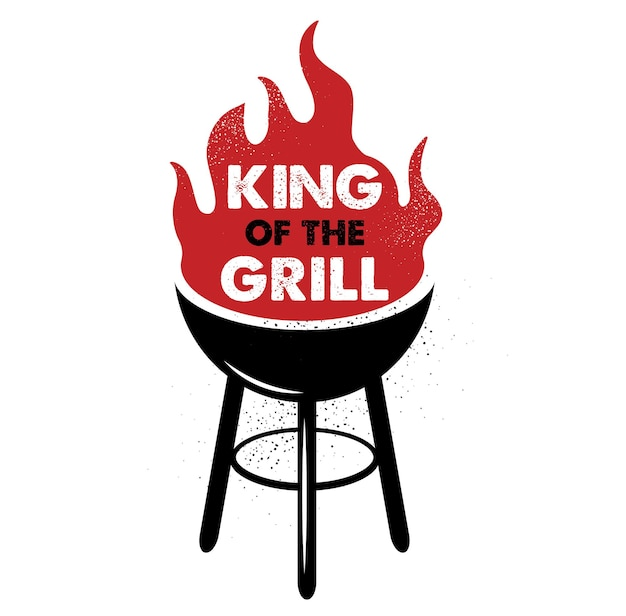 King of the grill. hand drawn typography poster. inspirational vector typography. vector calligraphy.