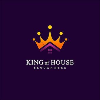 Логотип королевского дома с концепцией короны