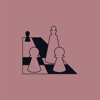 Король впереди. векторная композиция в плоском стиле
