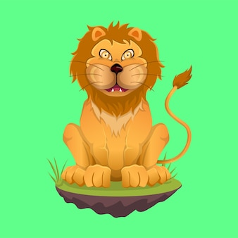 The king of the jungle's cartoon mascot, the lion