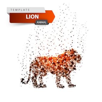 King lion - glare dot illustration