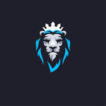 King lion mascot logo