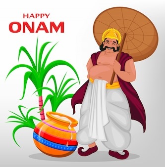 King mahabali, happy onam festival in kerala