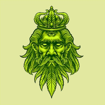 Голова короля марихуаны