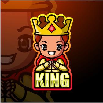 King mascot esport illustration