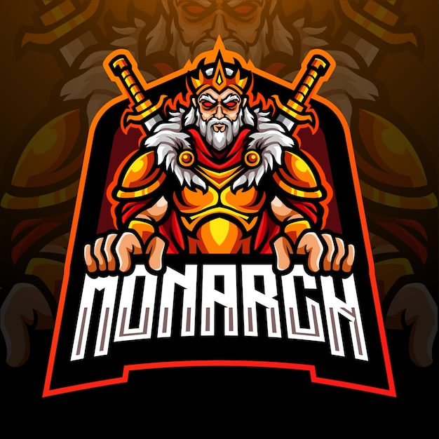 King mascot esport logo design