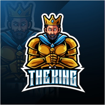 The king mascot logo
